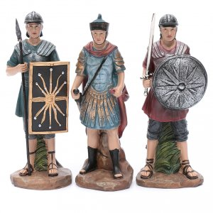 Nativity Scene figurines: Nativity scene statues Roman soldiers in resin 20 cm 3 pieces set