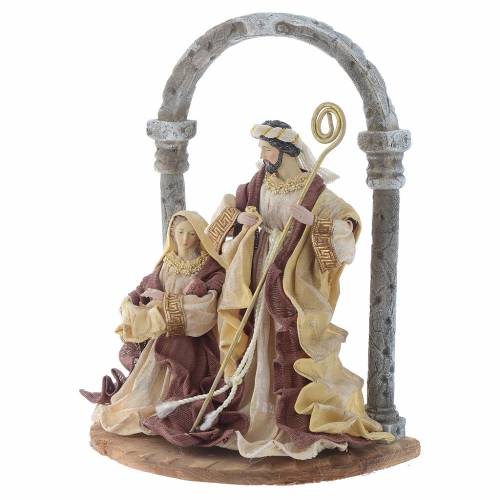 Nativity scene with arch in Cream Brown resin measuring 41cm s2