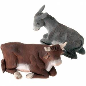 Neapolitan Nativity Scene: Nativity set accessories 14 cm ox and ass figurines