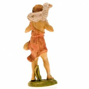 Nativity set accessories, shepherd with sheep figurine s3