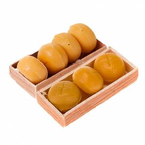 Miniature food: Nativity set accessory, bread basket 1piece