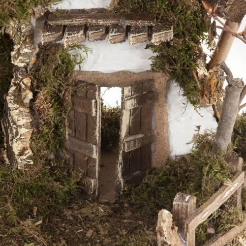 Nativity set accessory, cabin-style Hut 60x30x40 cm s3