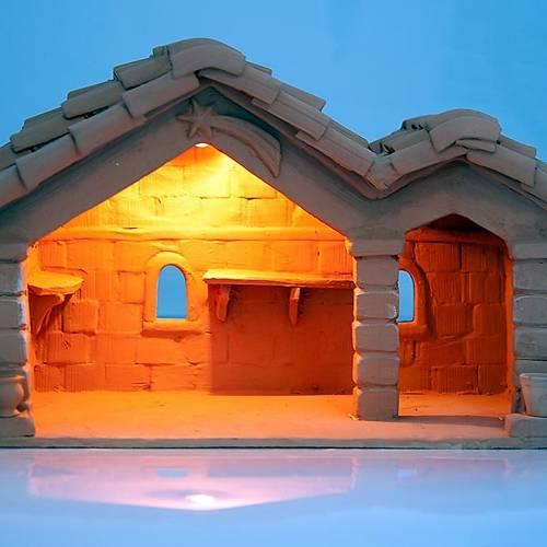 Nativity set accessory, manger in terracotta s3