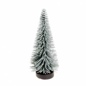 Nativity set accessory, snow-covered pine tree s1