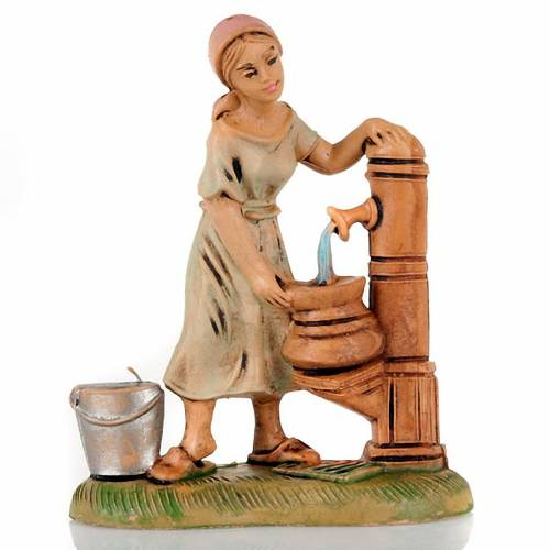 Nativity set accessory, Woman at the well figurine 8cm s1