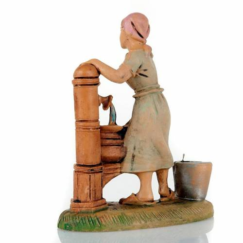 Nativity set accessory, Woman at the well figurine 8cm s2
