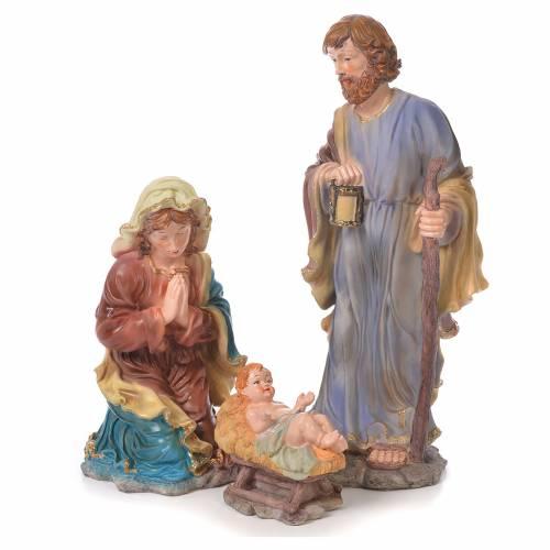 Nativity set in resin, 10 figurines measuring 44cm s2