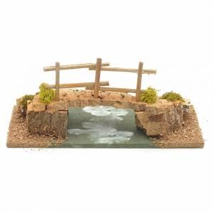 Bridges, streams and fences for Nativity scene: Nativity setting, cork bridge 10x20x10cm