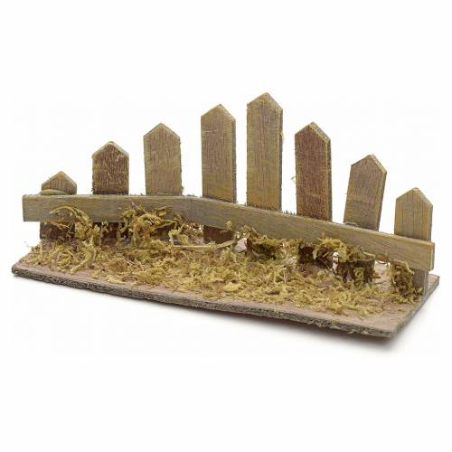 Nativity setting, corner wooden fence s1
