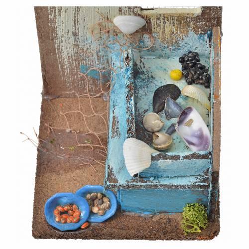 Nativity setting, fishmonger's shop 15x9,5x9,5cm s6