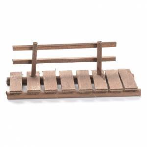 Nativity setting, footbridge in wood 5x15x5cm s1