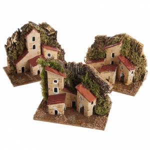 Settings, houses, workshops, wells: Nativity setting, house in wood with base