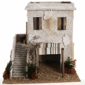 Nativity setting, minaret with stairs s1