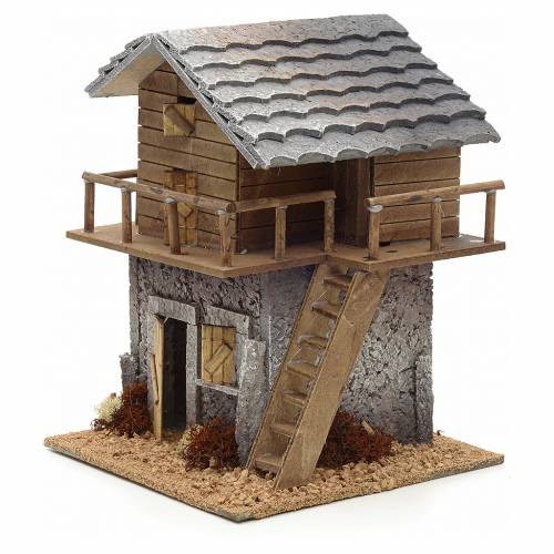 Nativity setting, refuge with stairs and balcony s3