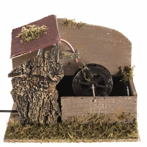 Nativity setting, water mill with house 2,5W s1