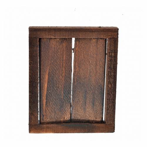 Nativity setting, window with double doors and frame, 5.5x4.5cm s2