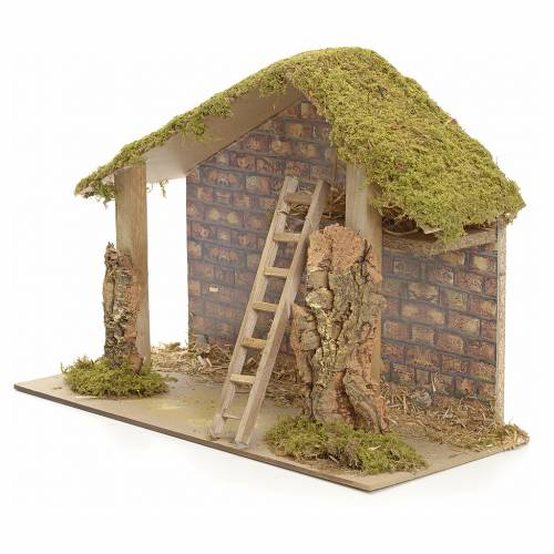 Nativity stable 30x42x19cm s3