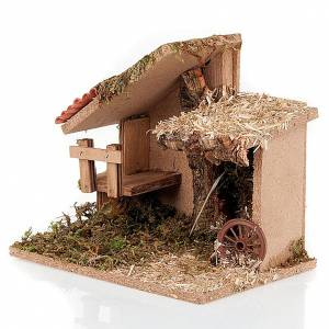 Stables and grottos: Nativity stable with stairs and roof
