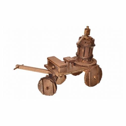 Neapolitan Nativity accessory, cart with press 8x12x7.5cm s2