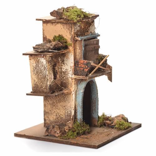Neapolitan Nativity block of houses 26x20x19cm s2