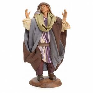 Neapolitan Nativity figurine, astonished person, 18 cm s1