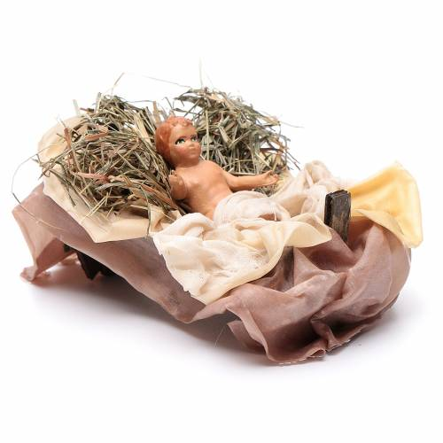 Neapolitan Nativity figurine, baby Jesus, 18 cm s3