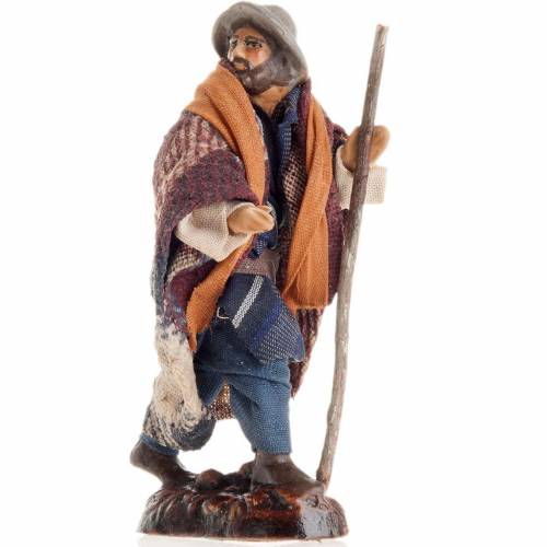 Neapolitan Nativity figurine, Man with cane 8cm s1