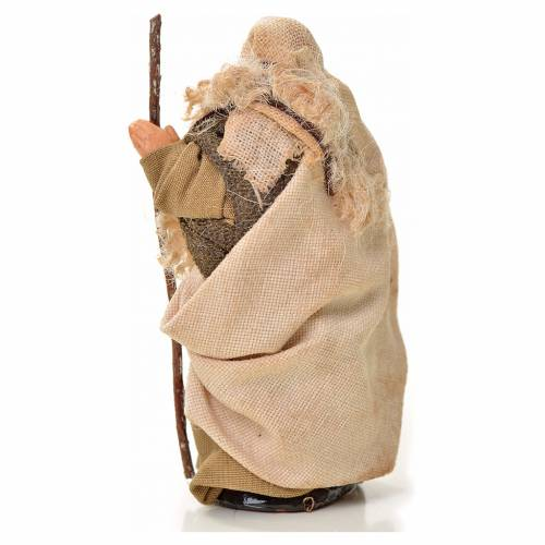 Neapolitan Nativity figurine, man with stick, 6 cm s2