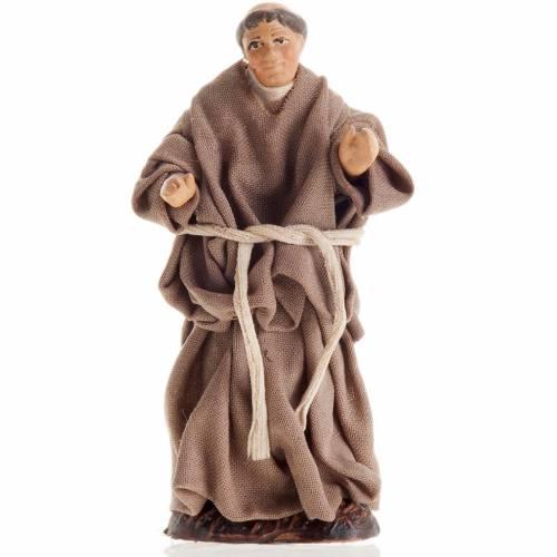 Neapolitan Nativity figurine, Monk 8cm s1