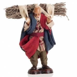 Neapolitan nativity figurine, old woodman 8cm s1
