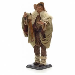 Neapolitan Nativity figurine, piper, 45 cm s2