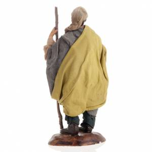 Neapolitan nativity figurine, shepherd with cheese 18cm s4