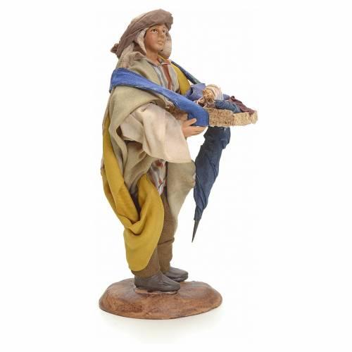 Neapolitan Nativity figurine, umbrella seller, 18 cm s2