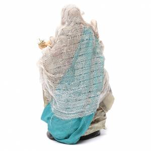 Neapolitan nativity figurine, woman with egg basket 18cm s4