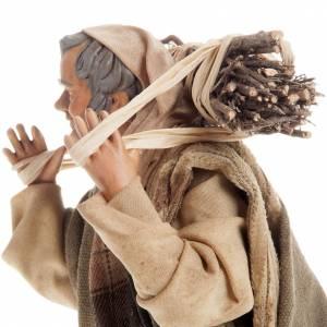 Neapolitan nativity figurine, woodman 18cm s5