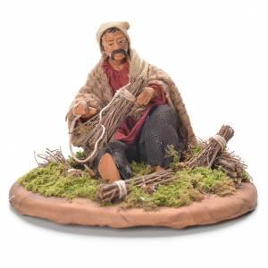 Neapolitan Nativity Scene 12cm, broom maker figurine s1