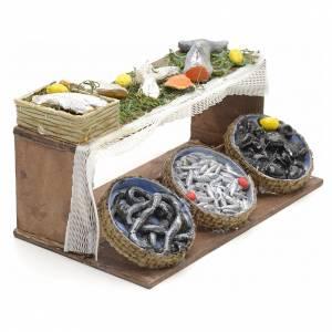 Neapolitan Nativity scene accessory, fish stall 12 cm s2