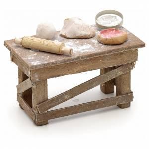 Neapolitan Nativity scene accessory, pizza table s2