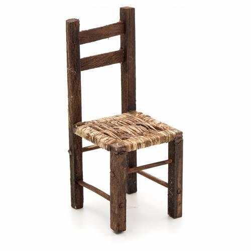 Neapolitan Nativity scene accessory, wicker chair, 12 cm s1