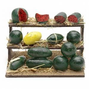 Neapolitan Nativity, watermelon stall 4.5x9x7cm s1