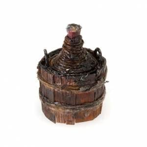 Neapolitan Nativity Scene: Neapolitan set accessory Demijohn miniature in wood