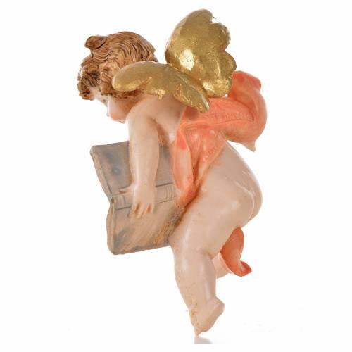 Ángel con libro rosado Fontanini 7 cm. símil porcelana s2