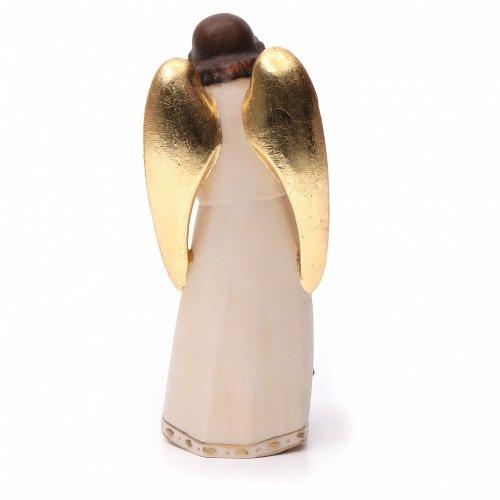 Ángel de la guarda con niña estilo moderno madera s4