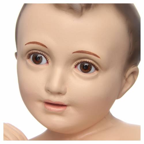 Niño Jesús manos unidas 50cm ojos cristal Landi s2