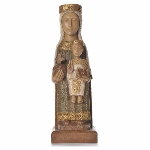 Nostra Signora del Pilar 25 cm pietra colorata verde Bethléem s1