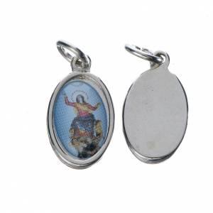 Medals: Notre Dame d'Utelle medal in silver metal, 1.5cm