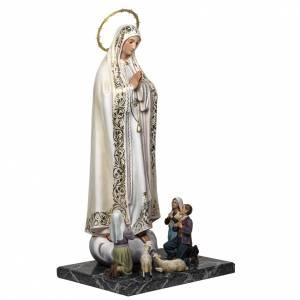 Notre Dame de Fatima 120cm avec bergers pâte à bois s5