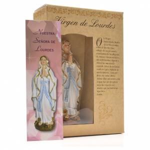 Notre Dame de Lourdes 12cm image et prière Espagnol s3
