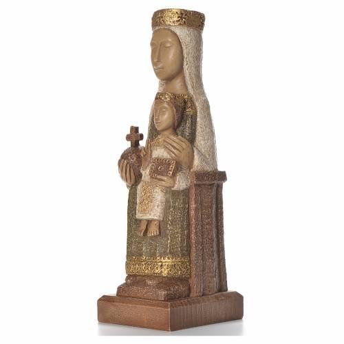 Notre-Dame du Pilar 25 cm pierre colorée vert Bethléem s2