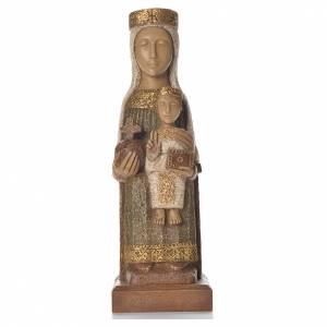 Notre-Dame du Pilar 25 cm pierre colorée vert Bethléem s1